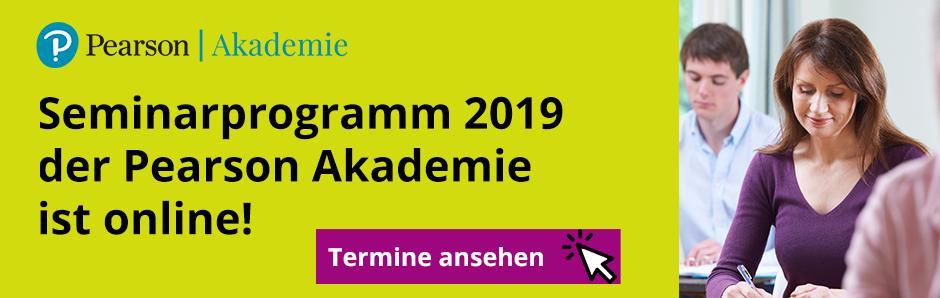 Pearson Akademie Seminarprogramm 2019